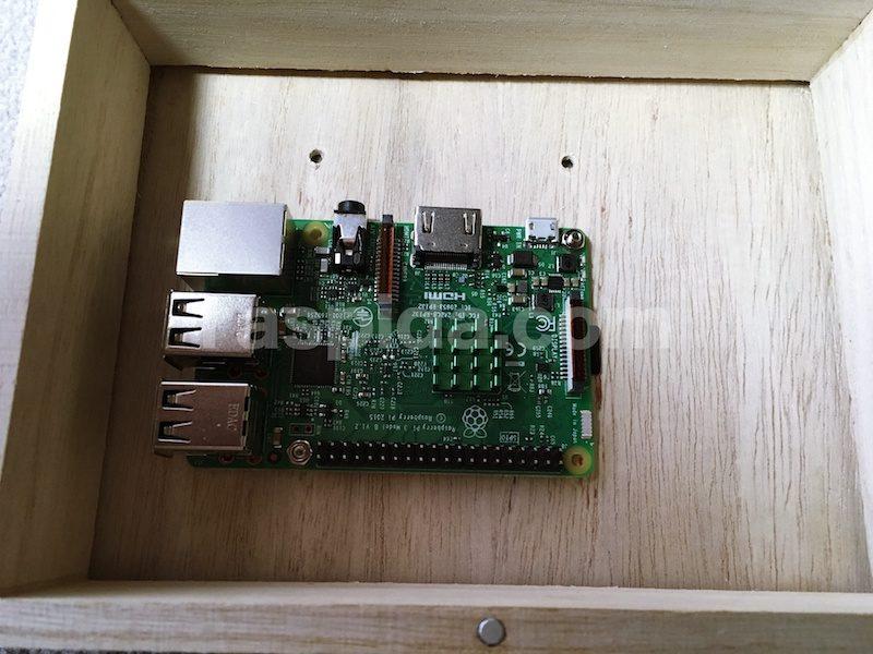 Raspberry Pi を固定