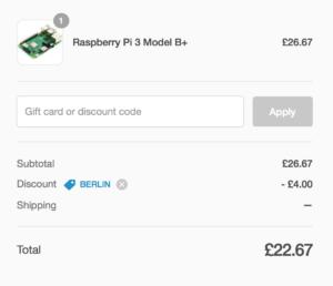 Raspberry Pi を販売するPimoroniが期間限定で15%OFF!
