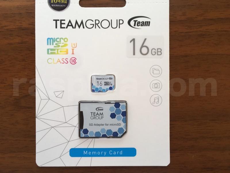 team製16GBmicroSDカード