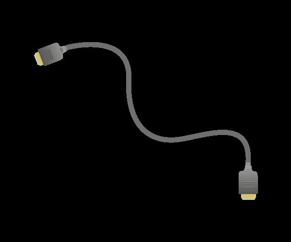 HDMIケーブルイラスト