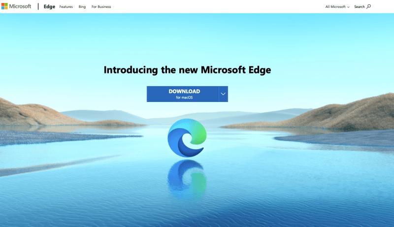 Microsoft Edgeダウンロード画面