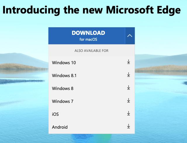 Microsoft Edgeが使えるOS