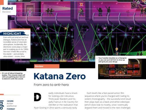 katana zeroのゲーム画面