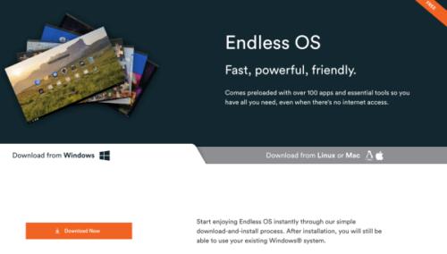 Download画面 Endless OS