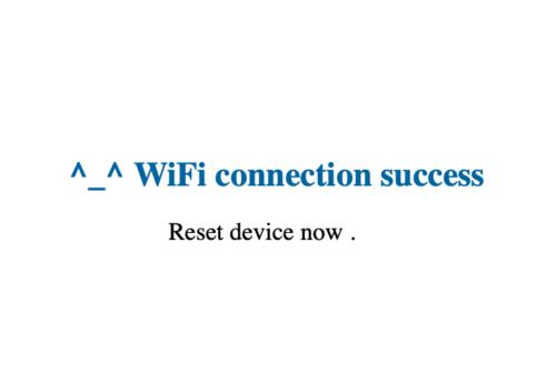 Wi-FiコネクションOK画面
