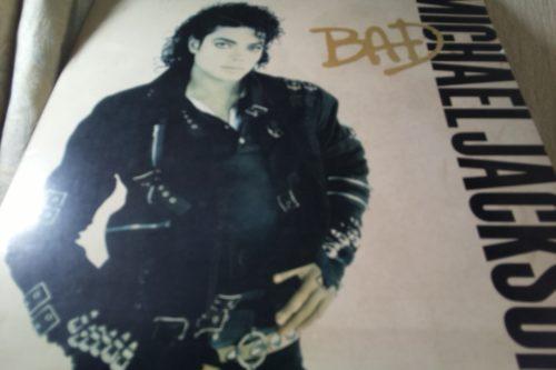 マイケル・ジャクソンのアルバム「BAD」のレコードジャケット