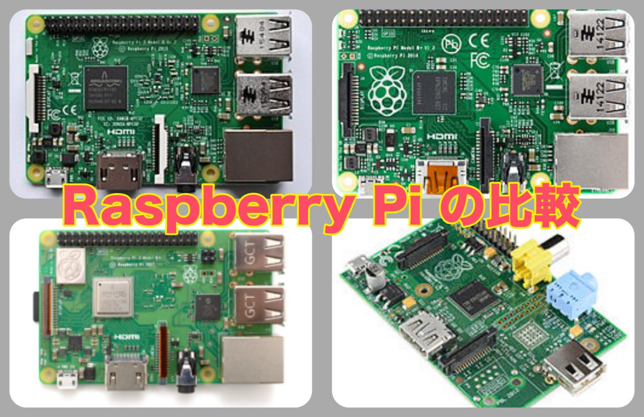 Raspberry Piモデル比較タイトル