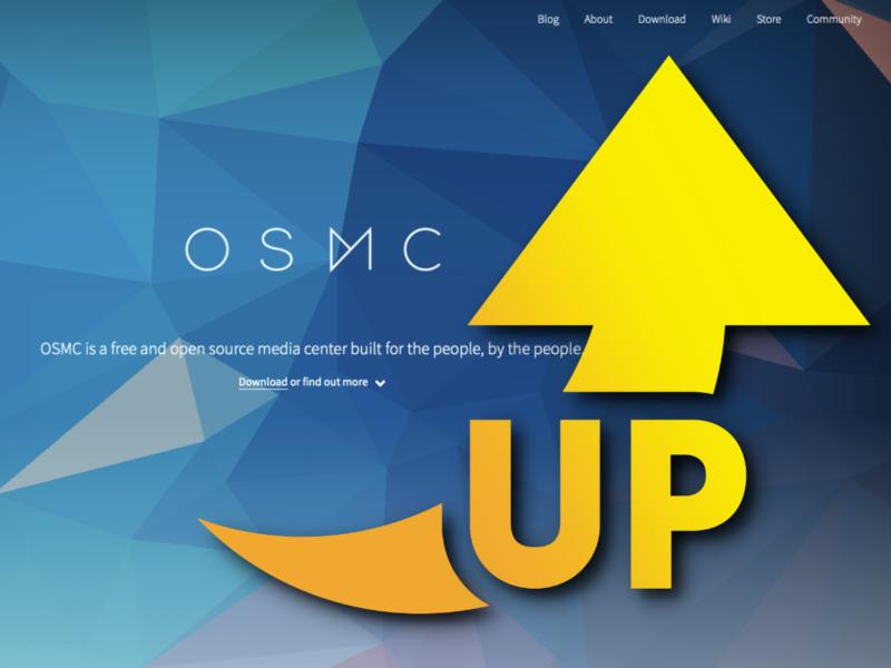 osmcのwebフロントページ
