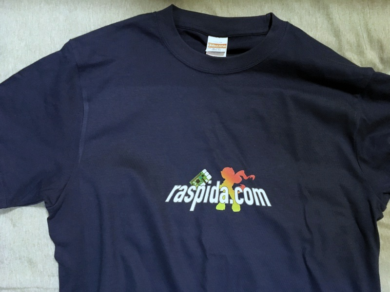 ラズパイダロゴTシャツ