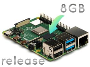 ラズパイ4にメモリー8GBモデル追加、公式OSは「Raspberry Pi OS」へ改名