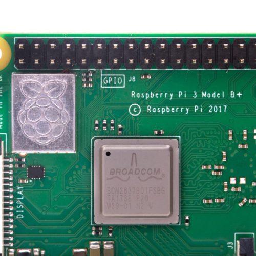 Raspberry Pi 3B+のアップ写真