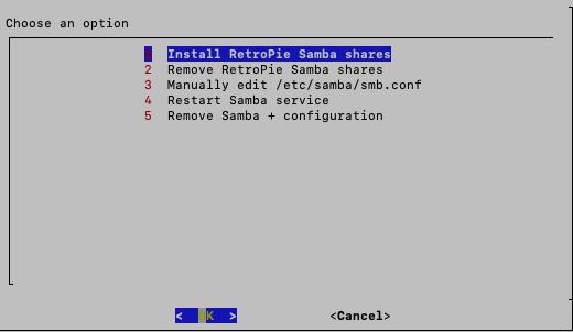 RetroPieへsambaを使ったROM転送の方法(1)
