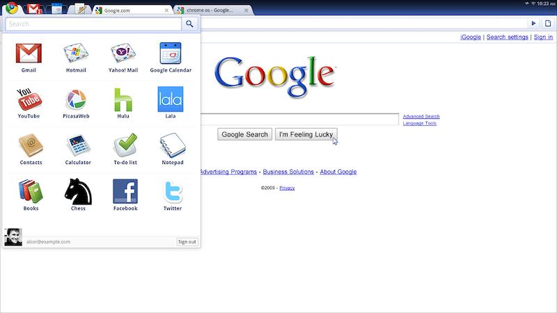 Chromuim OS 画面