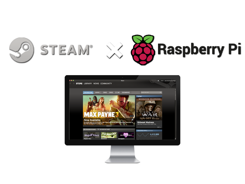 steam on rpi